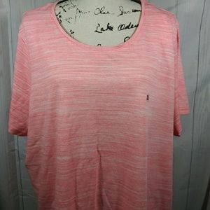 Basic edition pink striped top